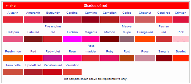 Different Shades Of Red how to make yourself smarter: using colors