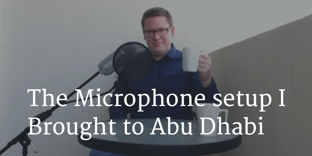 Microphone for Home Recording I Brought to Abu Dhabi