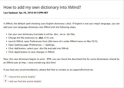 How to Add a New Dictionary in XMind 7